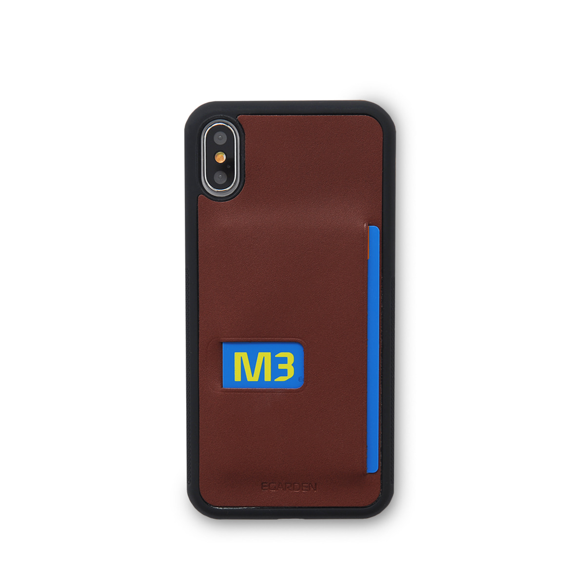 [에가든]iPhoneX Back Cover Case_Dark Wine