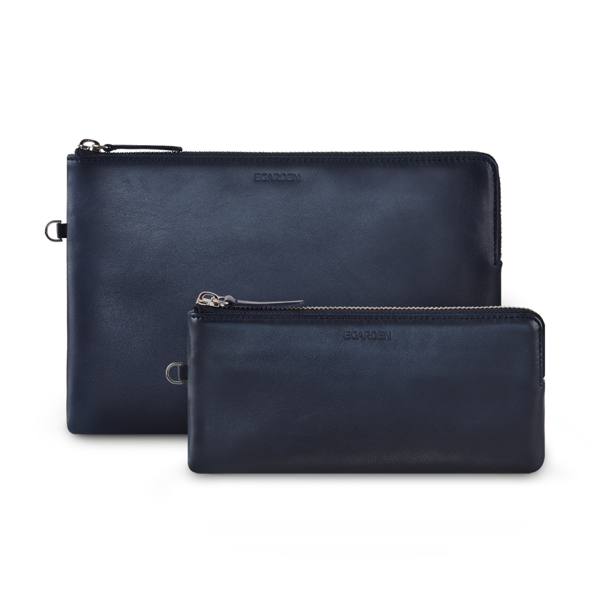 Zip Clutch Dark Navy