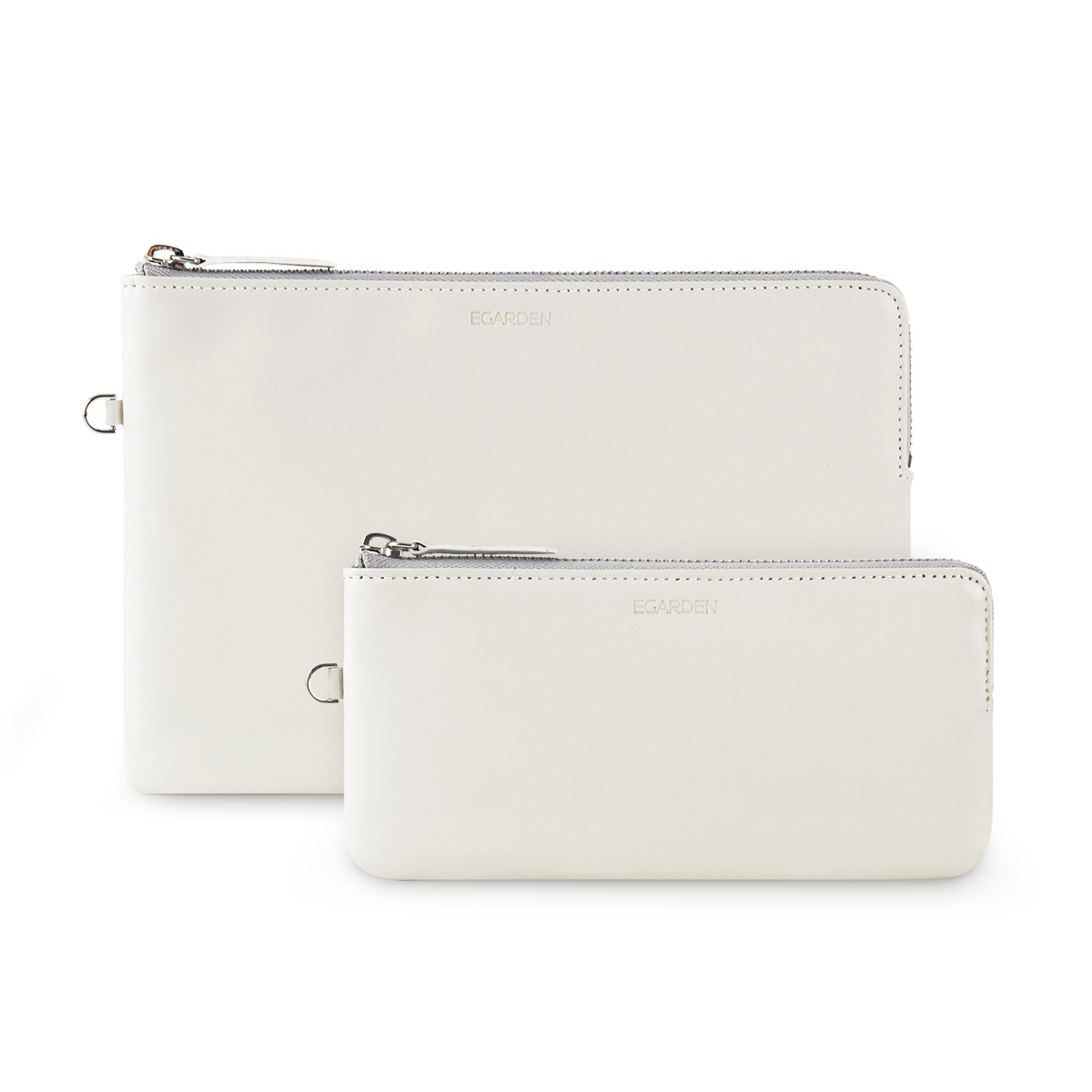 Zip Clutch White