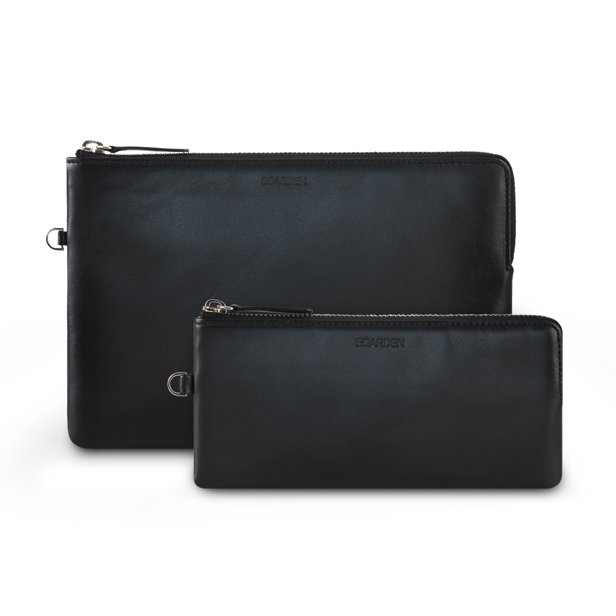 Zip Clutch Black