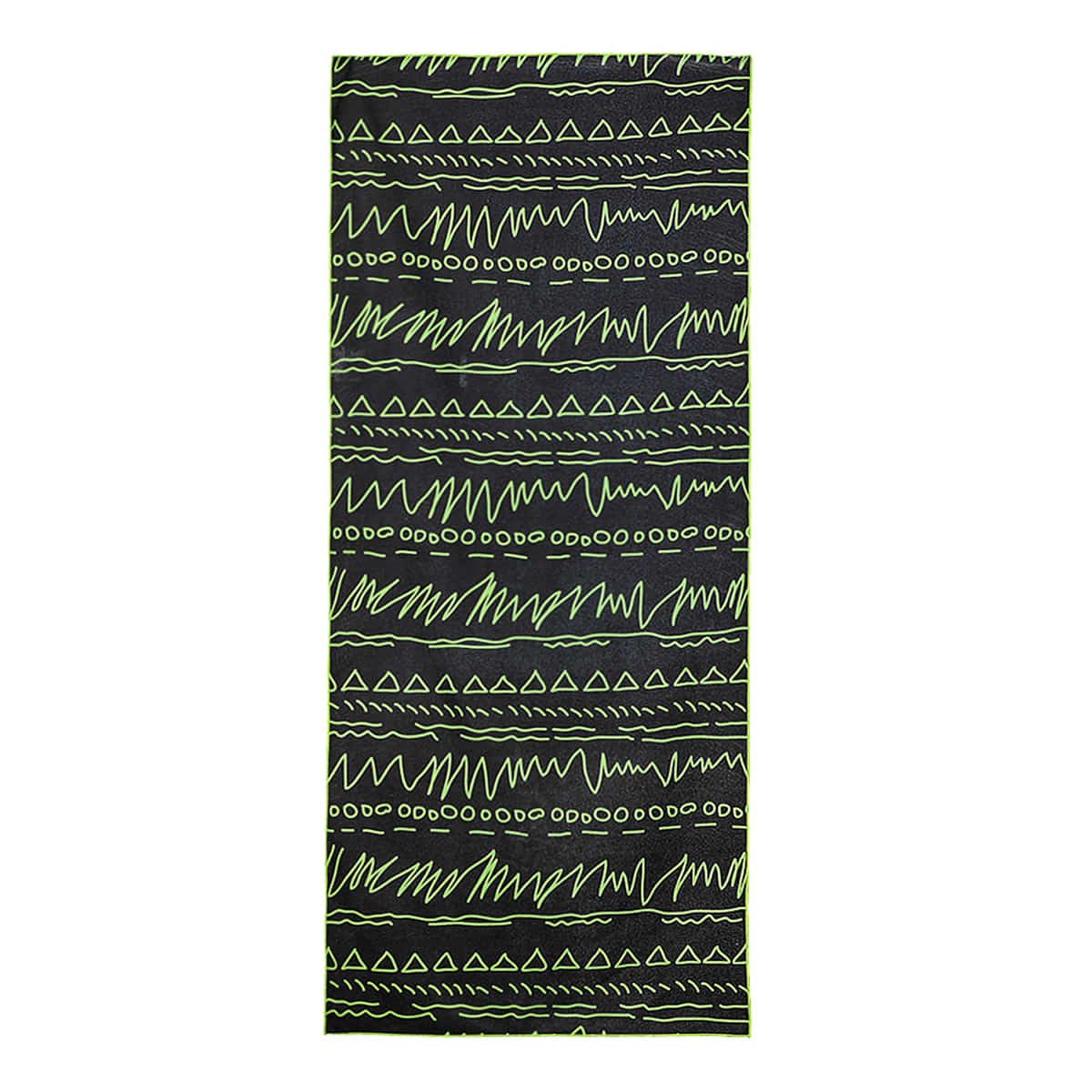 YOGA TOWEL Green Black